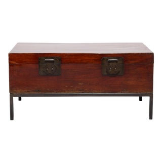Early 20th Century Chinese Twin Attendants Trunk Table For Sale