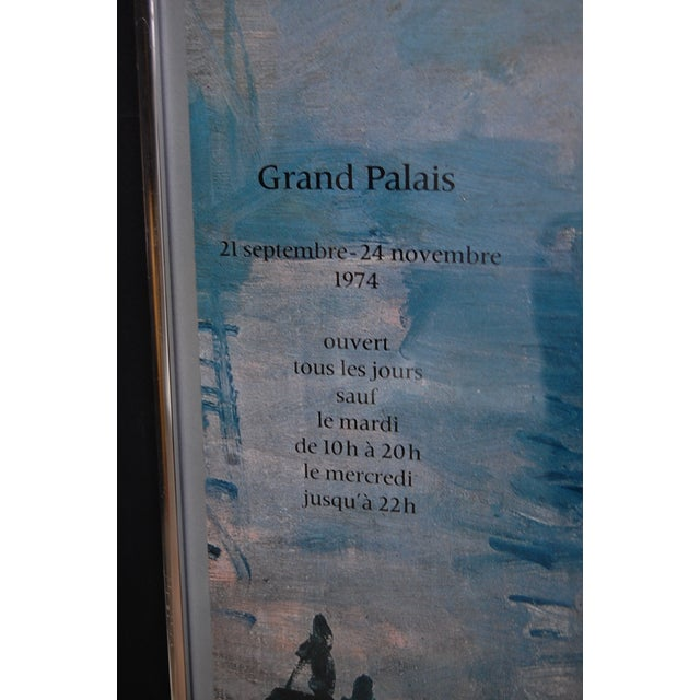 """Centenaire de l'impressionnisme"" Framed Grand Palais Exhibition Poster For Sale In Chicago - Image 6 of 7"