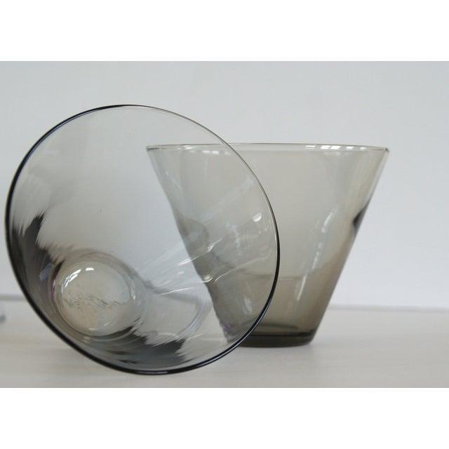 Modern Smoke Gray Cocktail Glasses - Set of 10 - Image 6 of 11