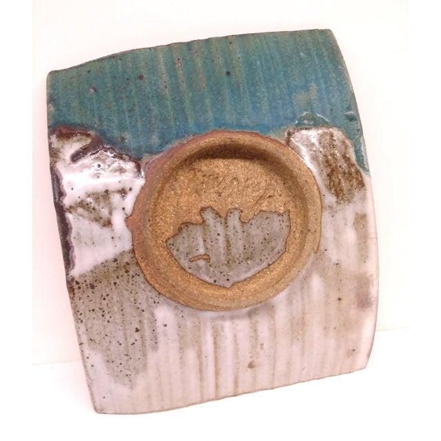 Turquoise Mid-Century Artisan Ceramic Sushi Tray For Sale - Image 8 of 10