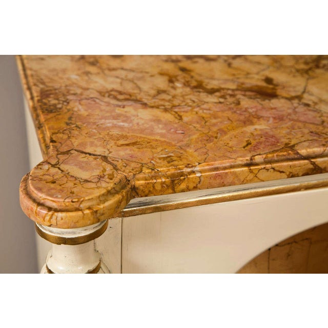 Hollywood Regency Regency Style Marble Top Cabinets - A Pair For Sale - Image 3 of 10