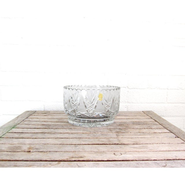 Imperlux Vintage Crystal Fruit Bowl For Sale In Boston - Image 6 of 6