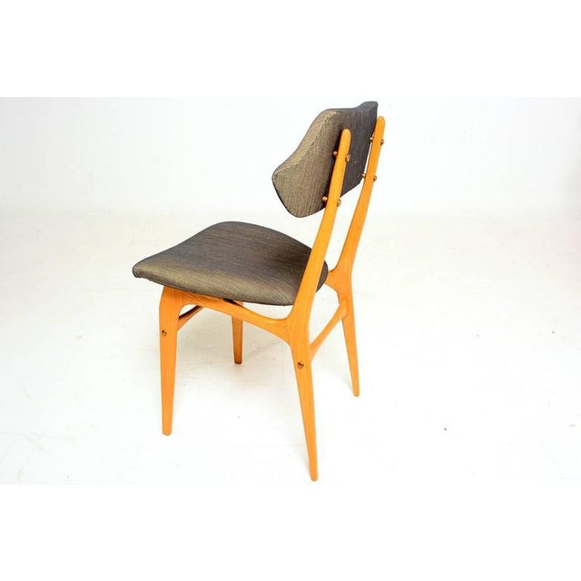 Pair of Italian Side Chairs After Carlo Mollino For Sale - Image 4 of 10