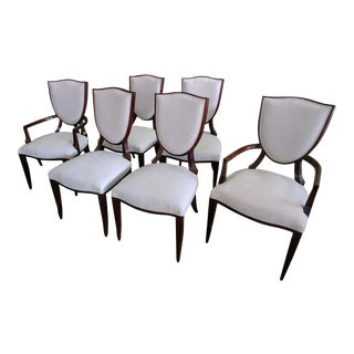 Henredon Furniture Barbara Barry Shield Back Dining Chairs- Set of 6 For Sale