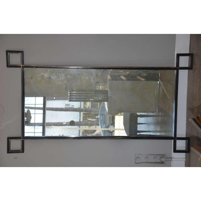 Industrial Pair of Oversized 'Oxyde' French Industrial Mirrors by Design Frères For Sale - Image 3 of 8
