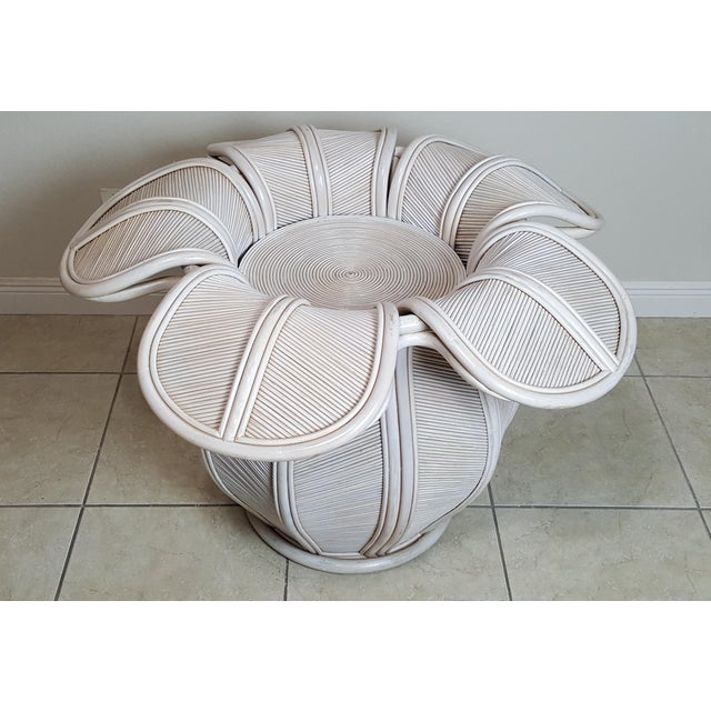 White Gabriella Crespi Attributed Sculptural Flower Dining Table For Sale - Image 8 of 9