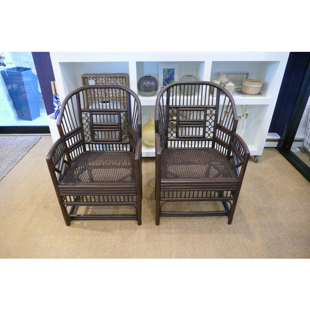 1960s Bamboo Cane Chairs - a Pair For Sale - Image 10 of 10