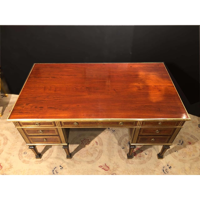 Russian Neoclassic Mahogany Desk For Sale In New York - Image 6 of 10