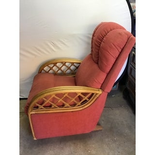 Paul Frankl Style Rattan Pretzel Recliner Chair 1 of a Pair Preview