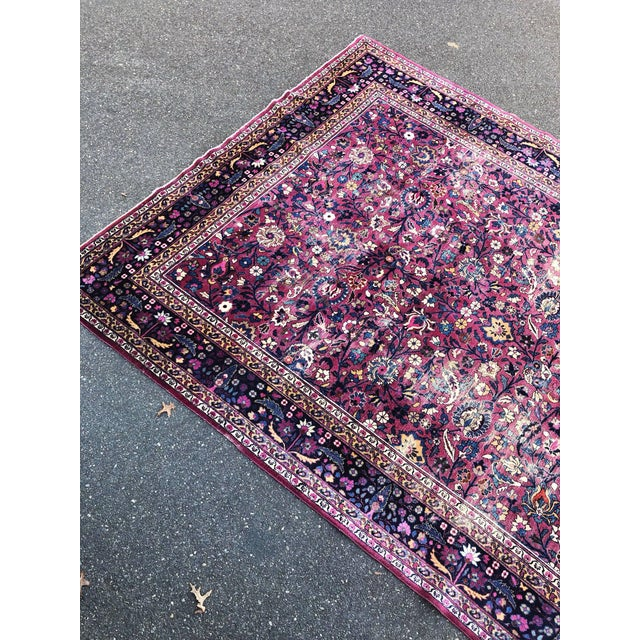 Early 20th Century Large Early 20th Century Antique Persian Distressed Handmade Rug For Sale - Image 5 of 12