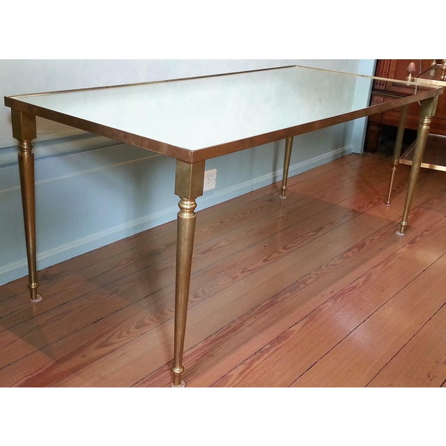 1960's Pair of Jansen Brass Coffee Tables For Sale In New Orleans - Image 6 of 10