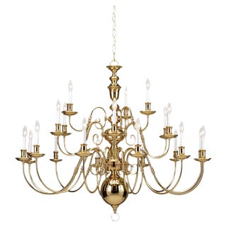 Sea Gull Lighting Classic Brass Chandelier For Sale