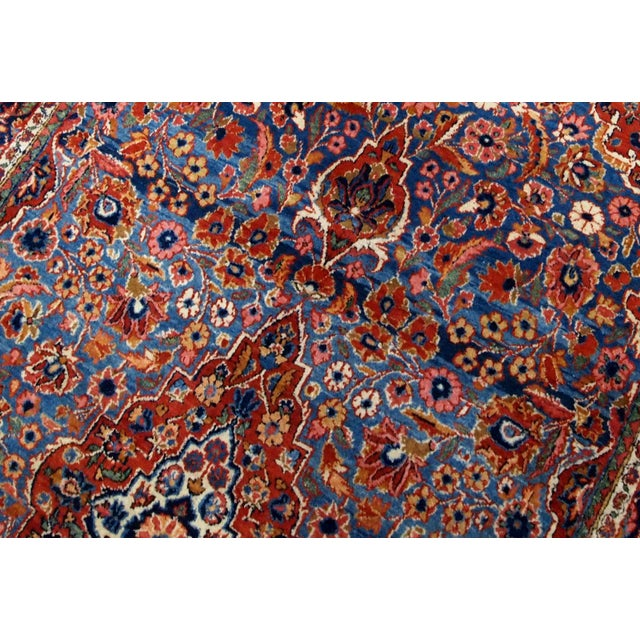 Islamic 1900s, Handmade Antique Persian Kashan Rug 4.1' X 6.6' - 1b706 For Sale - Image 3 of 12