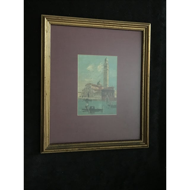 Framed oil painting purchased in Venice Italy Signed Cole (or Cale) Painting size: 4x6, frame size : 11 x 13, gold leaf...