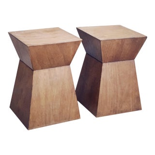 Mid 20th Century Walnut End Tables - a Pair For Sale
