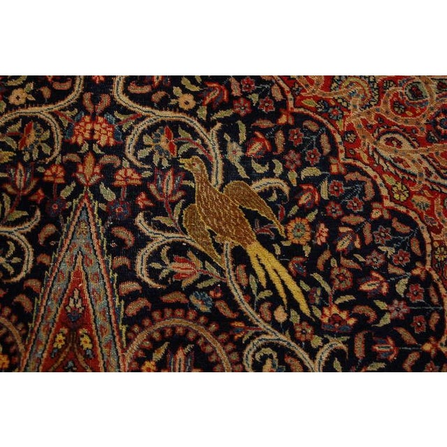 """Islamic Antique """"Bird-Of-Paradise"""" Persian Tabriz Rug - 6′3″ × 8′10″ For Sale - Image 3 of 6"""