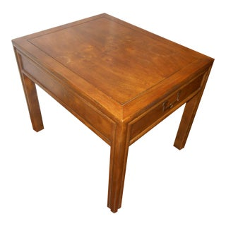1960's Campaign Henredon Artefacts End/Lamp Table For Sale