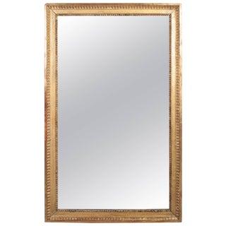 Louis XVI Gilt Mirror With Original Mercury Glass For Sale