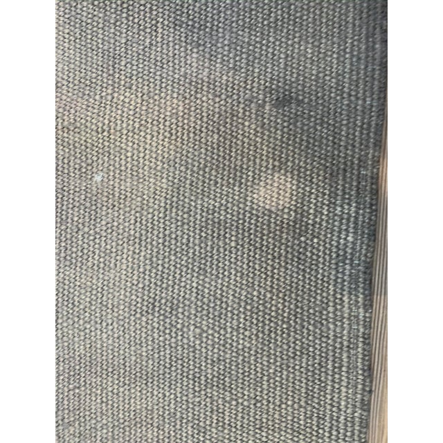 Late 20th Century Vintage Blue Ombre Turkish Hemp Rug-5′6″ × 7′10″ For Sale In Los Angeles - Image 6 of 11