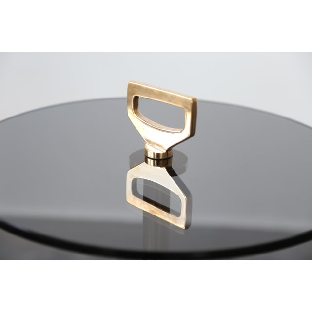 2010s Modern Costantini Bellance Bronze and Glass Cigarette Table For Sale - Image 5 of 7