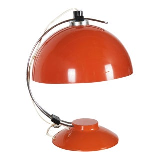 Mid-Century Orange Table Lamp, 1970s For Sale