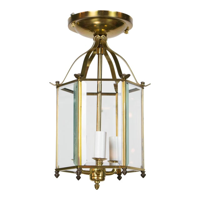 Hexagonal Brass Lantern For Sale