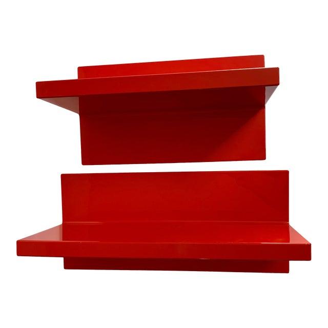Vintage Kartell Plastic Shelves-a Pair For Sale