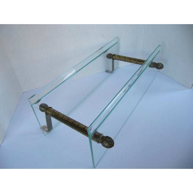 Vintage Glass and Brass Shelf For Sale - Image 6 of 8
