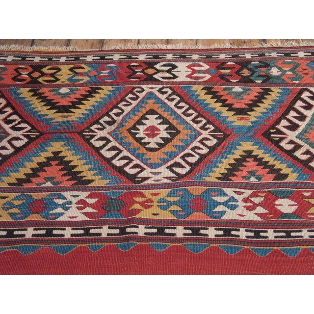 Islamic Antique Fethiye Kilim For Sale - Image 3 of 8