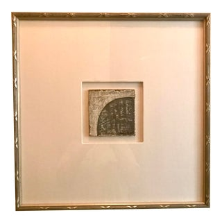 Small Matted Painting #3 With Silver Leaf Frame by Allen Kerr For Sale
