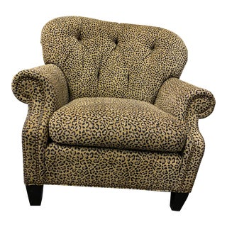 1990s Hancock and Moore Journey Lounger in Cheetah Upholstery - a Pair For Sale