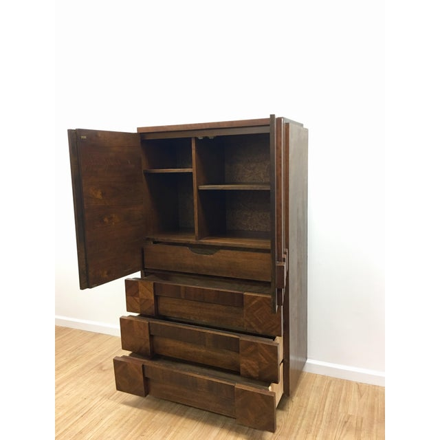 1960s Brutalist Armoire by Lane For Sale - Image 5 of 13