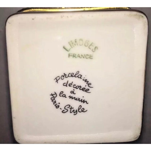 Traditional Vintage Limoges Yellow & White Floral Box For Sale - Image 3 of 13