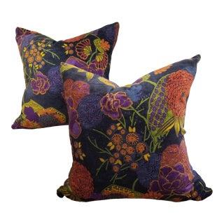 Super Soft Cotton Velvet Pillow Pair For Sale