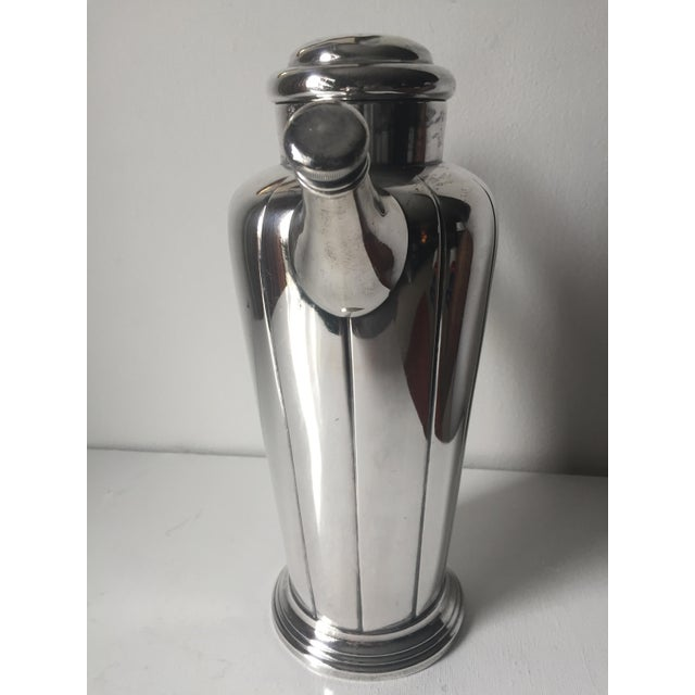 1940s Art Deco Silver Cocktail Shaker For Sale - Image 5 of 10