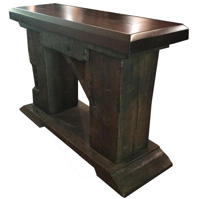 Rustic Custom Made Salvaged Barn Wood Bench - Image 4 of 8