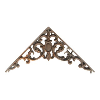 Ornate French Iron Bracket For Sale