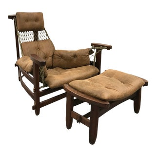 "Mid Century Modern Jean Gillon ""Jaganda"" Chair & Ottoman For Sale"