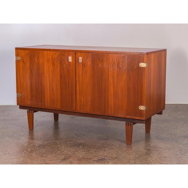 1960s Small Teak Sideboard by Peter Lovig Nielsen For Sale - Image 5 of 10