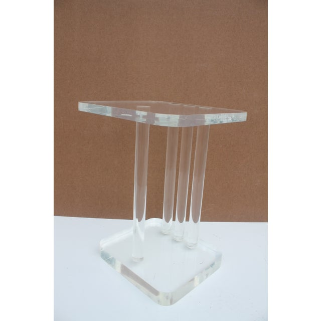 Mid-Century Modern Lucite Side Table - Image 8 of 11