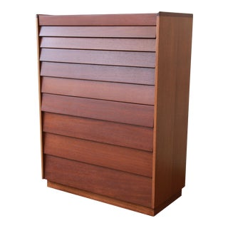 Edward Wormley for Dunbar Mid-Century Mahogany Highboy For Sale