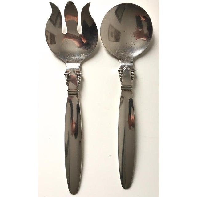 Vintage Art Deco Silver Serving Utensils- A Pair - Image 4 of 5