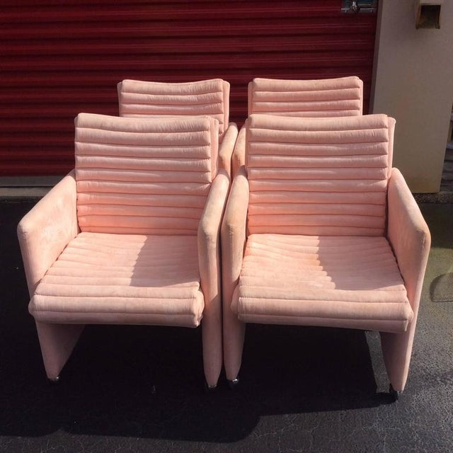 Vintage Milo Baughman Armchairs by Preview - Set of 4 - Image 2 of 12