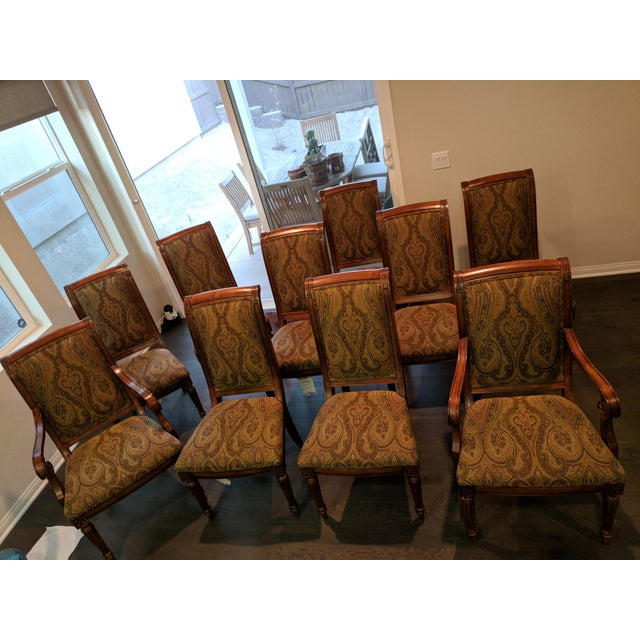 Traditional Ethan Allen Townhouse Collection Adison Dining Chairs - Set of 10 For Sale - Image 3 of 7