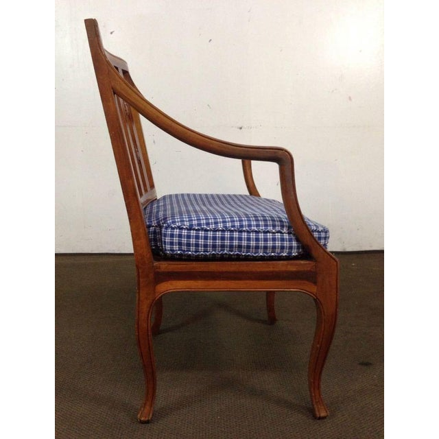 Antique Carved Walnut Armchair - Image 4 of 6