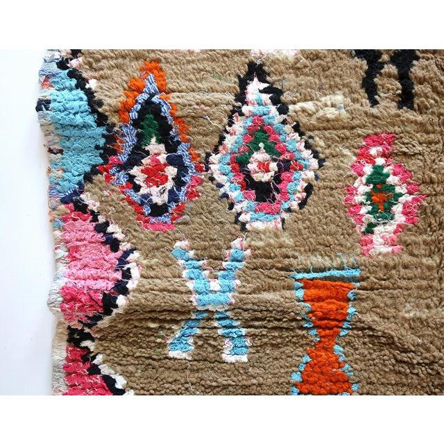 Moroccan Boucherouite Rug - 4′6″ × 6′5″ For Sale - Image 9 of 13