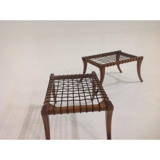 Mid-Century Modern Modern Klismos Style Ottomans- a Pair For Sale - Image 3 of 6