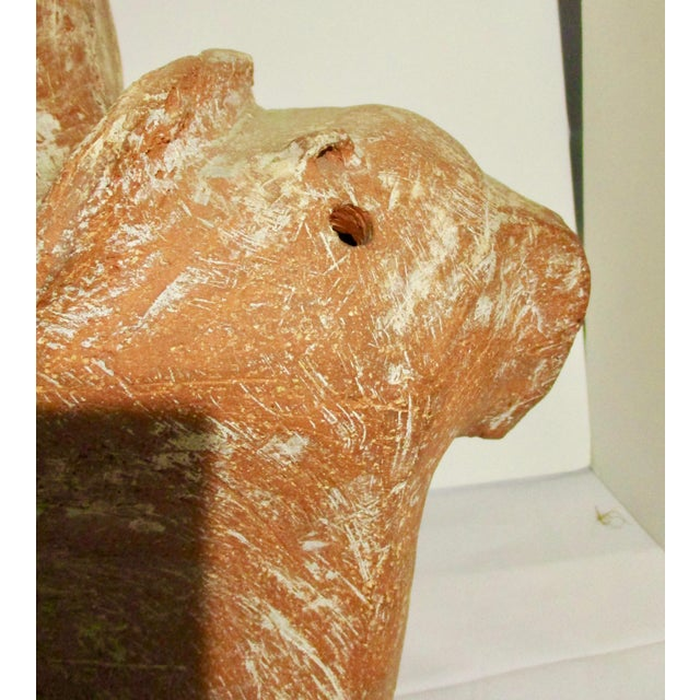 Large Terra Cotta Horse Sculpture by James T. Sampson For Sale - Image 11 of 12