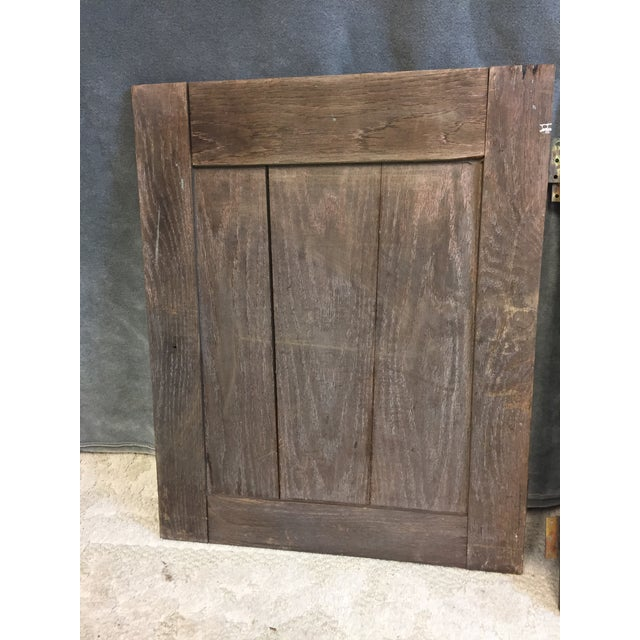 Vintage Rustic Wood Cabinet Doors - A Pair For Sale - Image 9 of 11