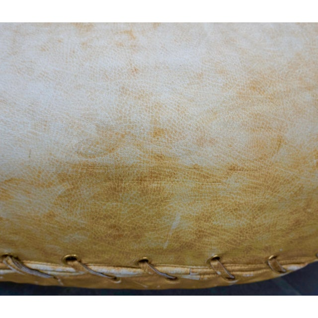 "Poltronova 1970s Leather Baseball Glove Chair Signed ""JOE"" for Poltronova For Sale - Image 4 of 9"
